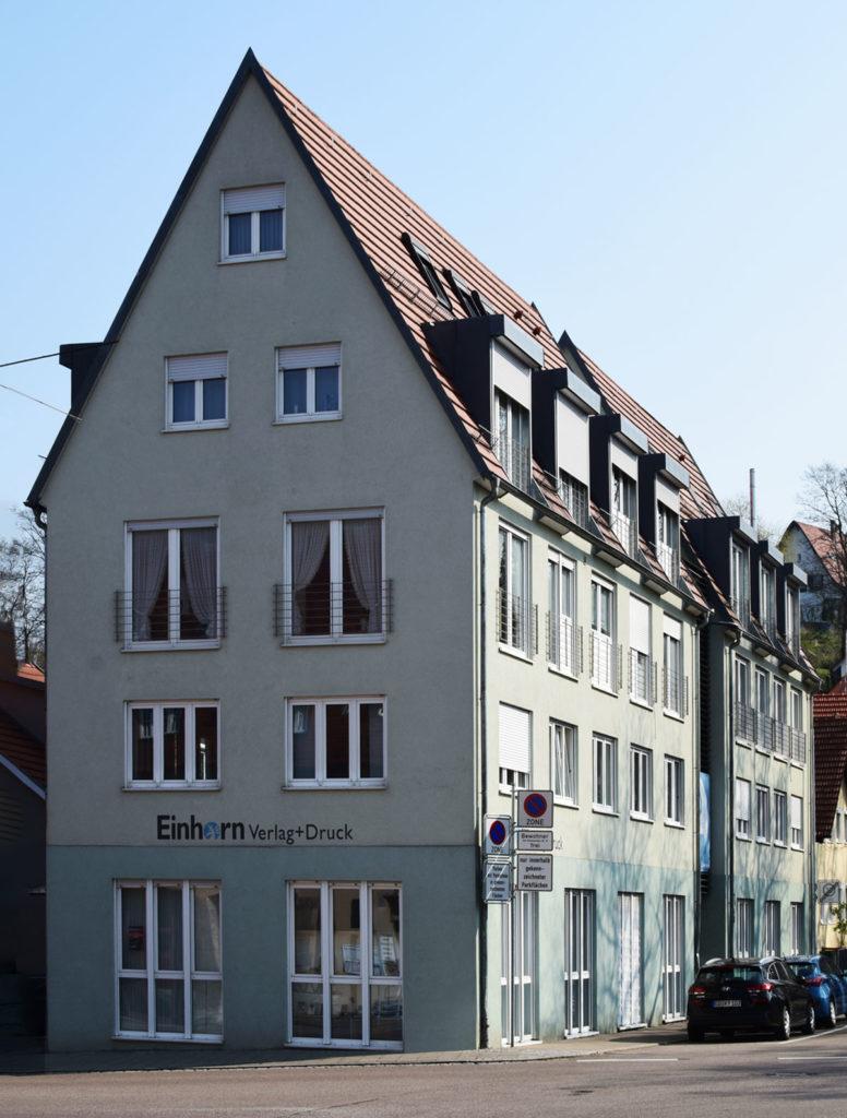 Einhornverlag Gebäudefront